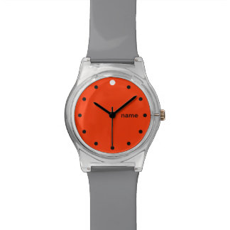 ONE DOT PLUS  | orange and grey customizable Watch