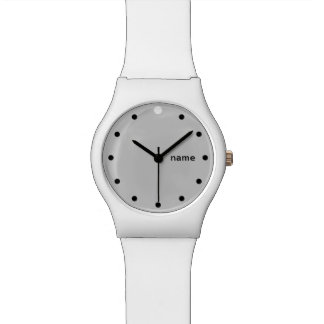 ONE DOT PLUS  | white and grey customisable Watch