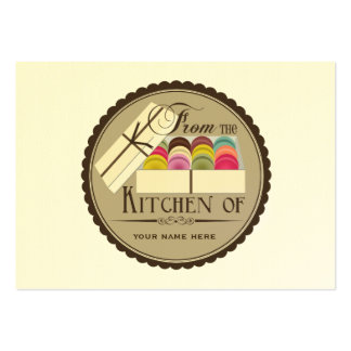 One Dozen French Macarons Set Of 100 Recipe Cards Business Cards