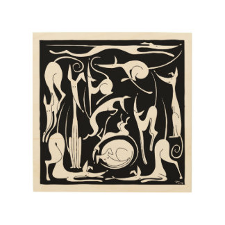 One Dozen Podencos Wood Wall Art