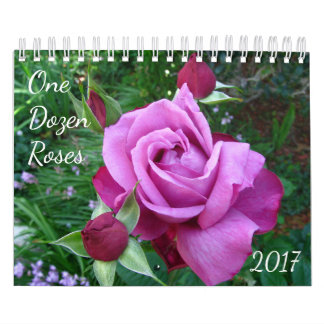 One Dozen Roses Photo Calendar 2017