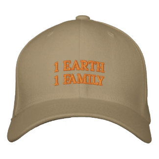 ONE EARTH ONE FAMILY EMBROIDERED HAT
