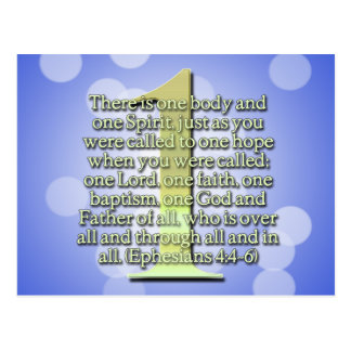 ONE  Ephesians 4:4-6 BIBLE SCRIPTURE Postcards
