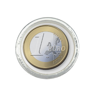 One Euro Coin Ring
