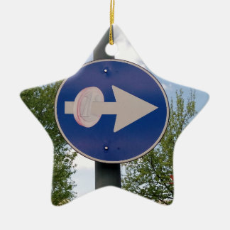 One euro one way christmas ornament