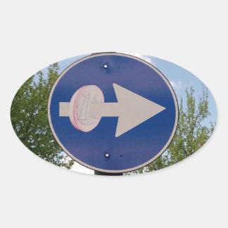 One euro one way oval sticker