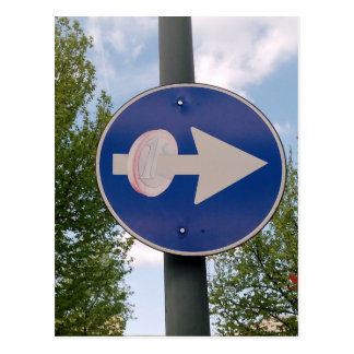 One euro one way postcard