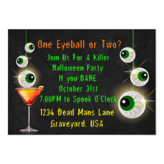 One Eyeball or Two Halloween Cocktail Party Invite