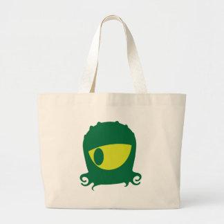One eyed Alien creature Jumbo Tote Bag