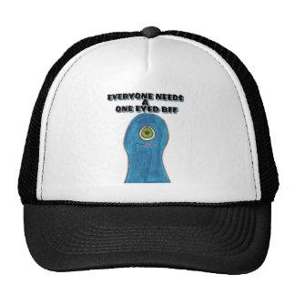 ONE EYED BFF TRUCKER HATS