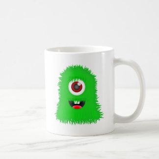 One eyed green monster basic white mug