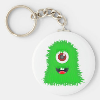 One eyed green monster key chain