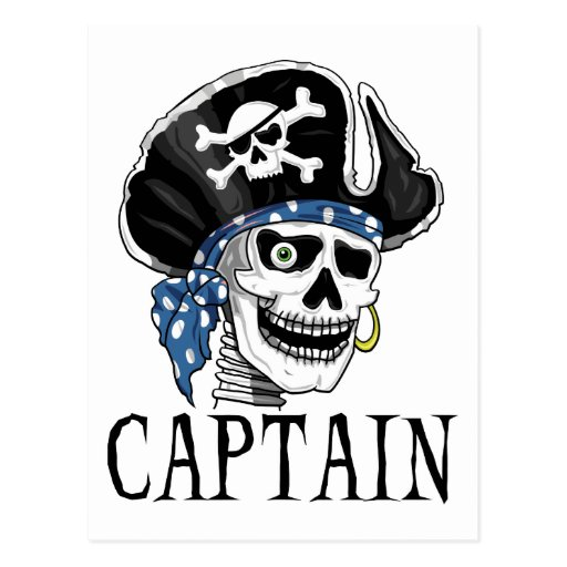 One-eyed Pirate Captain Post Cards