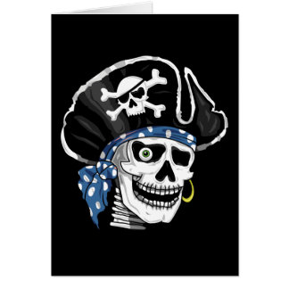One-eyed Pirate Greeting Card