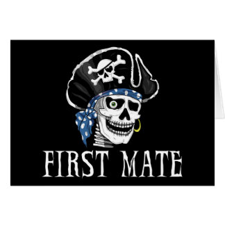 One-eyed Pirate First Mate Greeting Cards