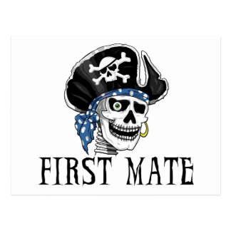 One-eyed Pirate First Mate Postcards