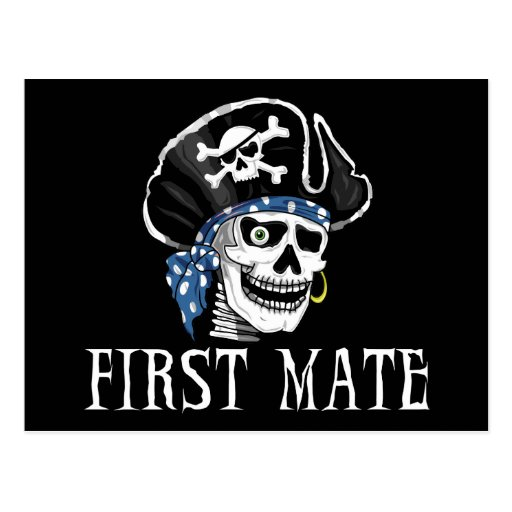One-eyed Pirate First Mate Postcard
