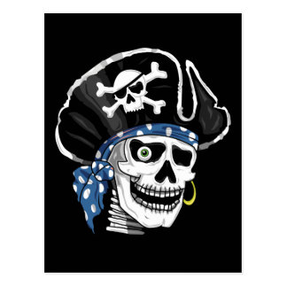 One-eyed Pirate Post Card