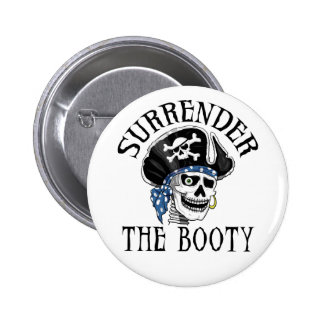 One-eyed Pirate Skull and Crossbones 6 Cm Round Badge