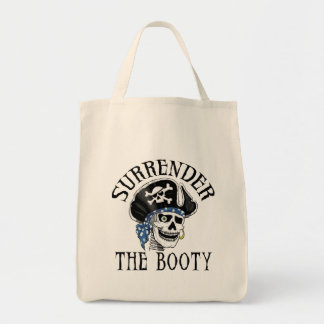 One-eyed Pirate Skull and Crossbones Canvas Bags
