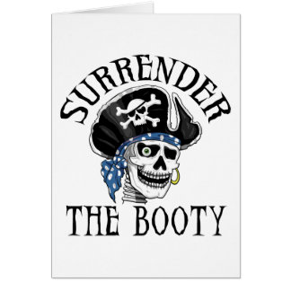 One-eyed Pirate Skull and Crossbones Greeting Card