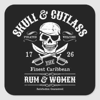 One Eyed Pirate Skull and Cutlasses