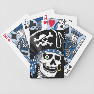 One-eyed Pirate Skull Bicycle Playing Cards