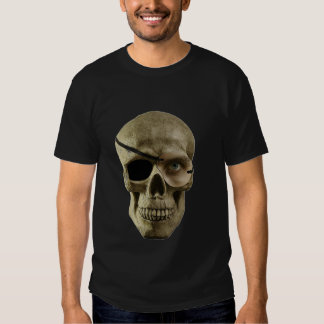 one eyed skull on black tshirts