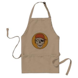 One Eyed Skull Pirate Standard Apron