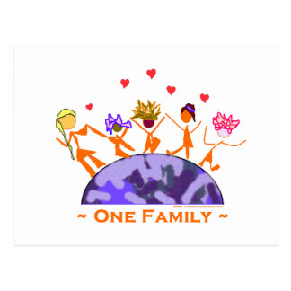One Family - Earth Post Cards