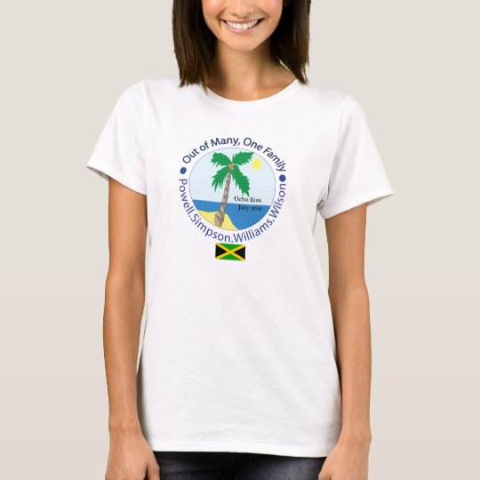 One family fitted female flag front T-Shirt