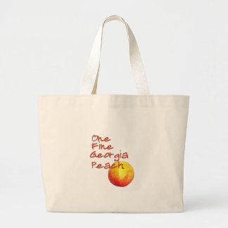 One Fine Georgia Peach Large Tote Bag