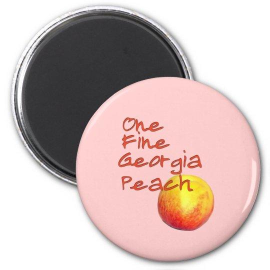 One Fine Georgia Peach Magnet