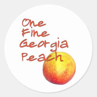 One Fine Georgia Peach Round Stickers