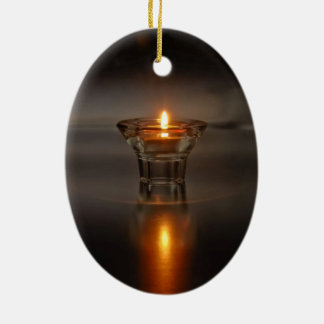 One Flame Ceramic Oval Decoration