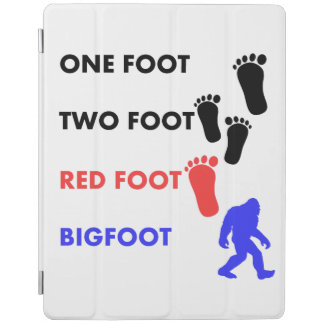 One Foot Two Foot Red Foot Bigfoot iPad Cover