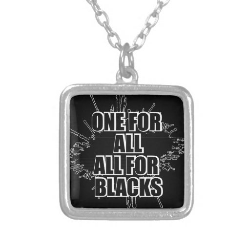 One For All All For Blacks Rugby Necklace