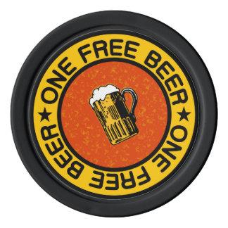 ONE FREE BEER custom bar / pub drink chips