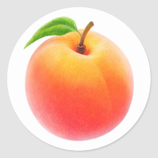 One fresh peach round sticker