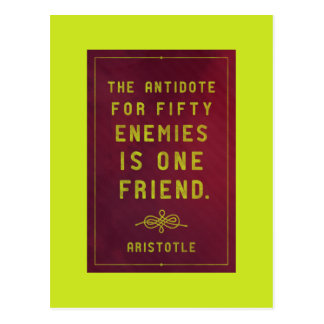 One friend - Aristotle quote postcard