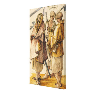 One Gallòglach and Two Kerns - Albrecht Dürer Stretched Canvas Prints