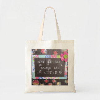 One Girl Can Change the World Tote Budget Tote Bag