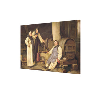 One Glass Too Many Stretched Canvas Print