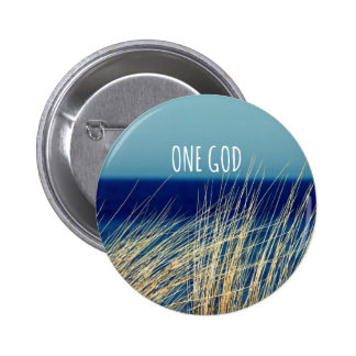 One God 6 Cm Round Badge