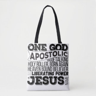 """One God Apostolic Song"" Tote bag"
