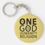 One God Basic Round Button Key Ring