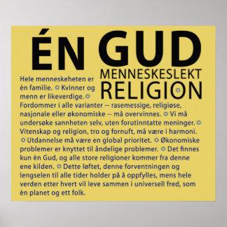 One God (Norwegian) Poster