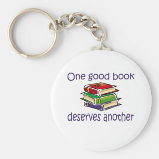 One good book deserves another gifts keychain