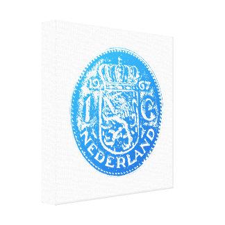 One Guilder 1 Gulden (blue) Stretched Canvas Prints