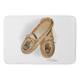 One Hand Moccasin Bath Mat